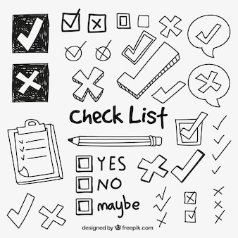 Collection of check symbols