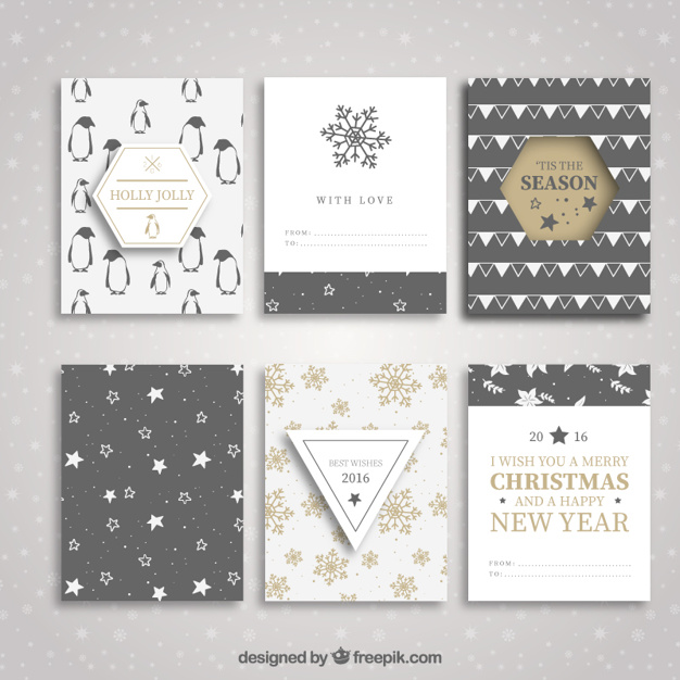 Collection of christmas and new year brochures