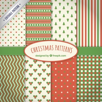 Collection of christmas patterns