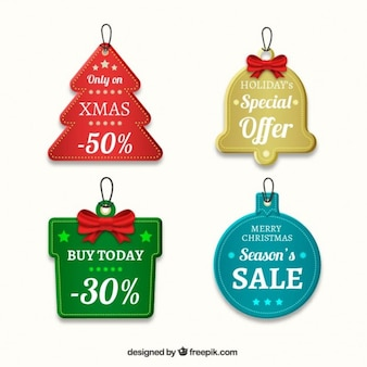 Collection of christmas sales tags