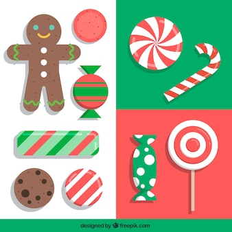 Collection of christmas sweets