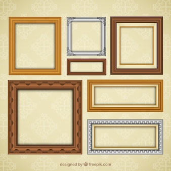 Collection of classic decorative frames