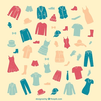 Collection of clothes