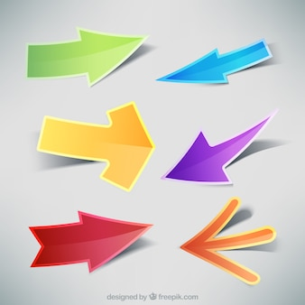 Collection of colorful arrows