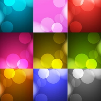 Collection of colorful backgrounds with circles