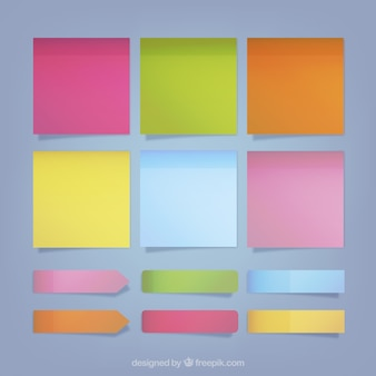 Collection of colorful sticky notes