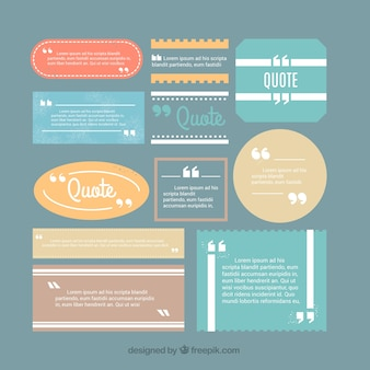 Collection of cool quote templates