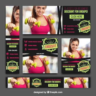 Collection of crossfit banners