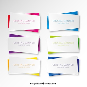 Collection of crystal banner