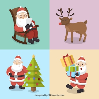 Collection of cute christmas characters