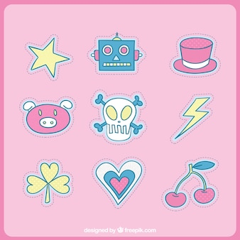 Collection of cute patches