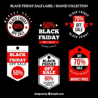 Collection of decorative badges for black friday
