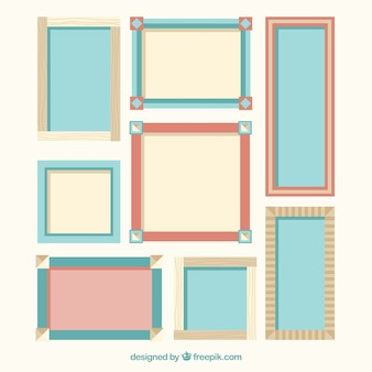 Collection of decorative frame in flat design