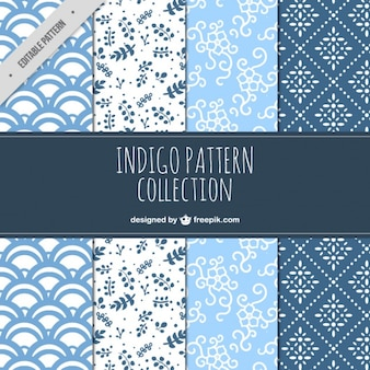 Collection of decorative patterns in vintage style