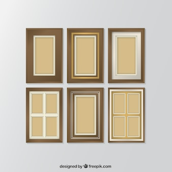 Collection of decorative photo frames