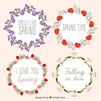 Collection of decorative spring wreaths