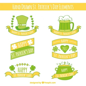Collection of decorative st. patrick's day ribbons