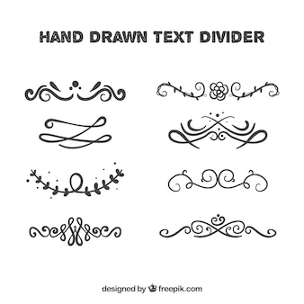 Collection of decorative text dividers