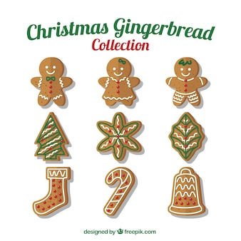Collection of delicious christmas cookies