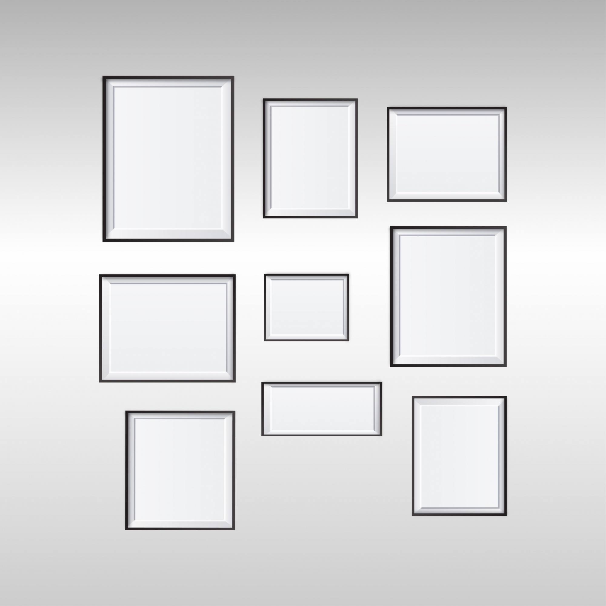 Collection of different frames