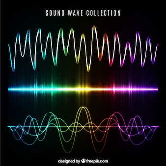 Collection of different types of sound waves