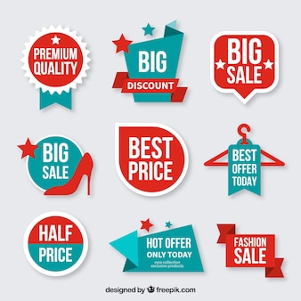 Collection of discount badges