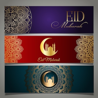 Collection of eid mubarak headers