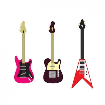 Collection of electric guitars