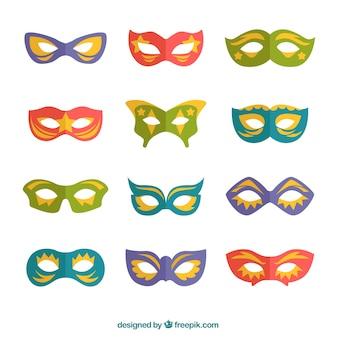 Collection of elegant carnival masks
