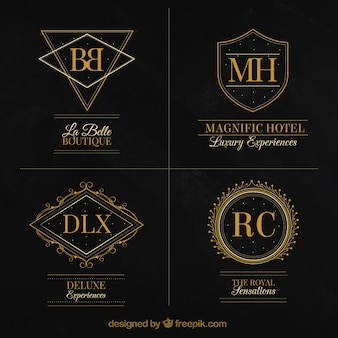 Collection of elegant luxury logos