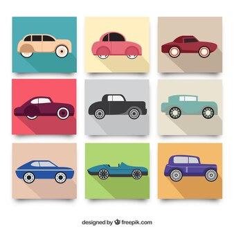 Collection of elegant vintage vehicles
