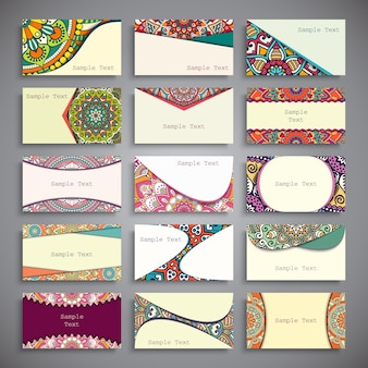 Collection of ethnic business cards