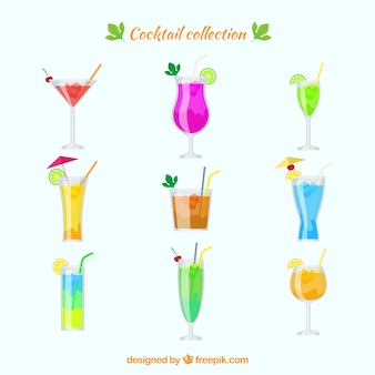 Collection of exotic drink