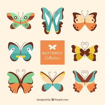 Collection of fantastic butterflies