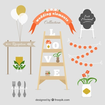 Collection of fantastic wedding elements