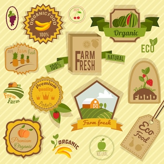 Collection of farm badges
