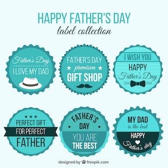 Collection of father's day stickers