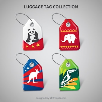 Collection of flat animal tag