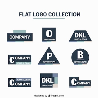 Collection of flat business logo