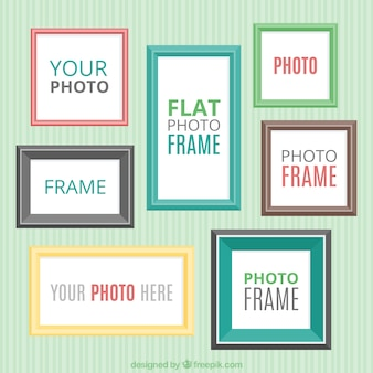 Collection of flat decorative frame