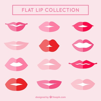 Collection of flat lips