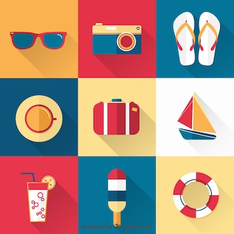 Collection of flat summer elements