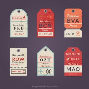 Collection of flat travel tag
