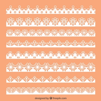 Collection of floral lace borders