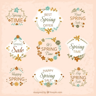 Collection of floral spring sale sticker