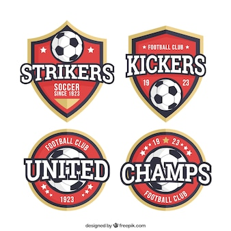 Collection of football badges