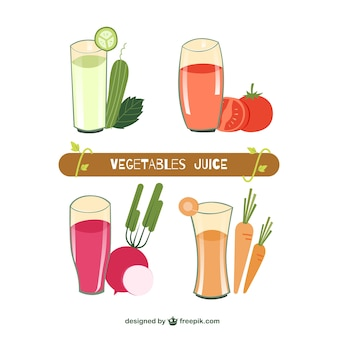 Collection of fresh juices