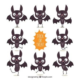 Collection of funny bat character