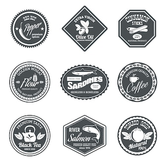 Collection of geometric badges