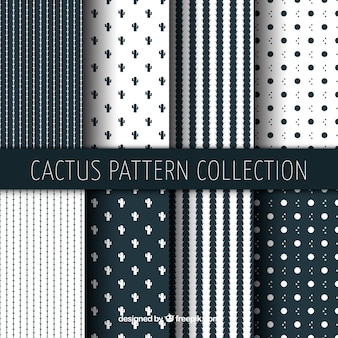 幾何学的なサボテンのパターンの収集